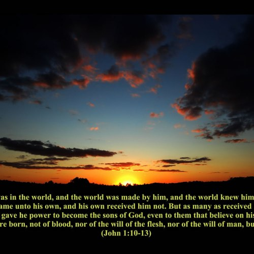 John 1:10-13 christian wallpaper free download. Use on PC, Mac, Android, iPhone or any device you like.