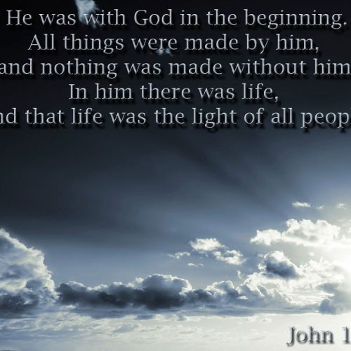 John 1:3-4 christian wallpaper free download. Use on PC, Mac, Android, iPhone or any device you like.