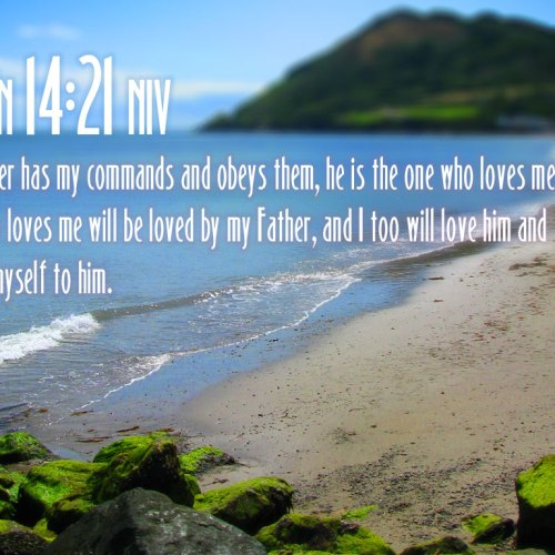 John 14:21 christian wallpaper free download. Use on PC, Mac, Android, iPhone or any device you like.