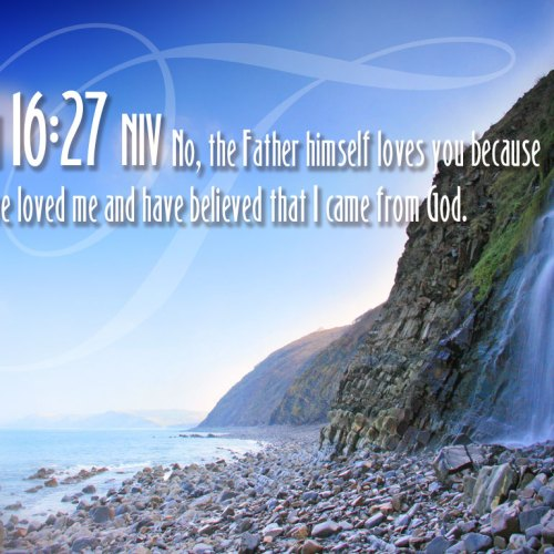 John 16:27 christian wallpaper free download. Use on PC, Mac, Android, iPhone or any device you like.
