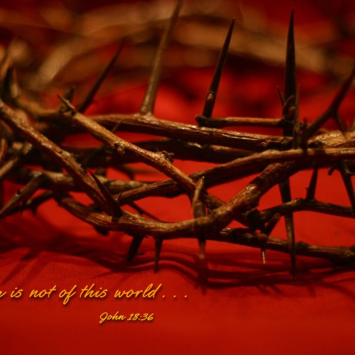 John 18:36 christian wallpaper free download. Use on PC, Mac, Android, iPhone or any device you like.
