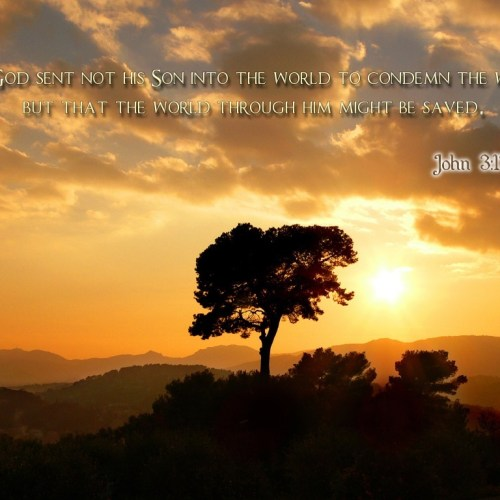 John 3:17 christian wallpaper free download. Use on PC, Mac, Android, iPhone or any device you like.