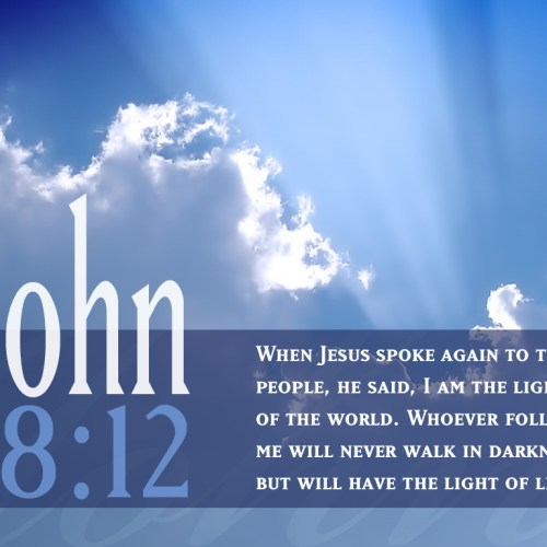 John 8:12 christian wallpaper free download. Use on PC, Mac, Android, iPhone or any device you like.