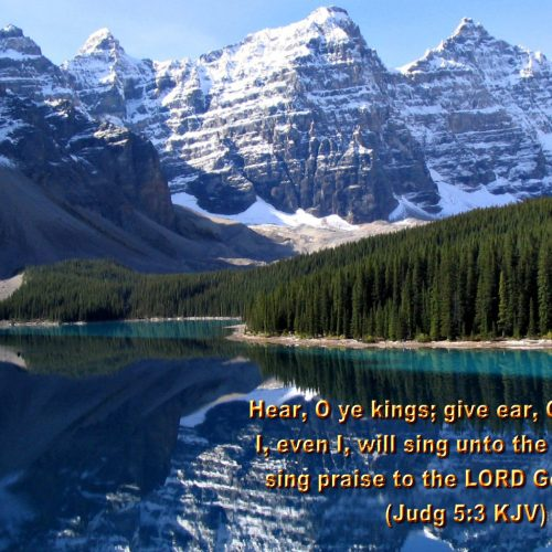 Judg 5:3 (KJV) christian wallpaper free download. Use on PC, Mac, Android, iPhone or any device you like.