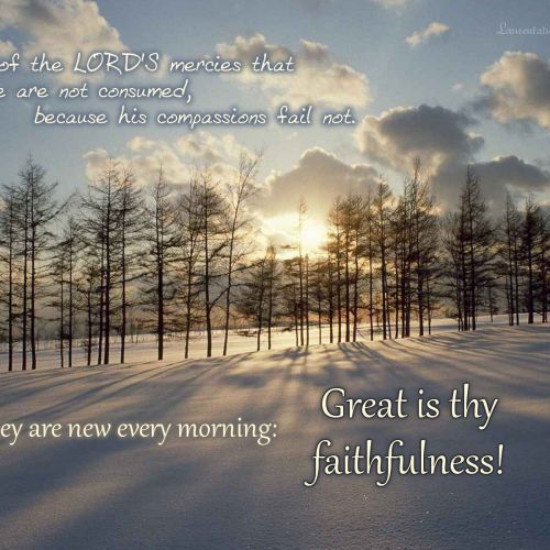 Lamentations 3:22 christian wallpaper free download. Use on PC, Mac, Android, iPhone or any device you like.