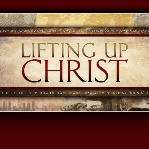Lifting up Christ christian wallpaper free download. Use on PC, Mac, Android, iPhone or any device you like.