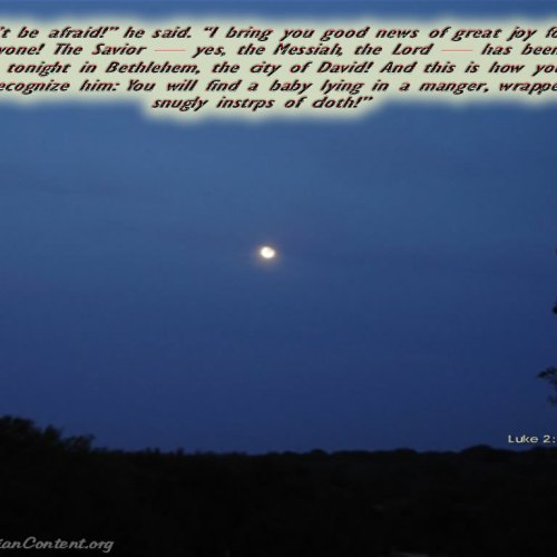 Luke 2:10-12 christian wallpaper free download. Use on PC, Mac, Android, iPhone or any device you like.