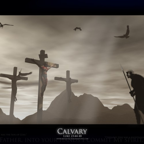 Luke 23:44-48 – Calvary christian wallpaper free download. Use on PC, Mac, Android, iPhone or any device you like.