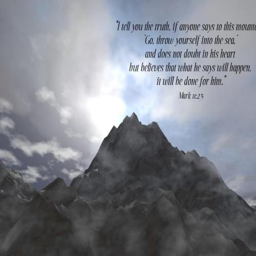 Mark 11:23 christian wallpaper free download. Use on PC, Mac, Android, iPhone or any device you like.