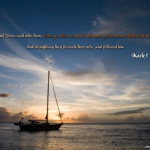 Mark 1:17 christian wallpaper free download. Use on PC, Mac, Android, iPhone or any device you like.
