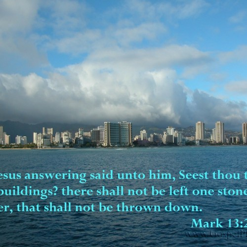 Mark 13:2 christian wallpaper free download. Use on PC, Mac, Android, iPhone or any device you like.