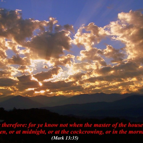 Mark 13:35 christian wallpaper free download. Use on PC, Mac, Android, iPhone or any device you like.