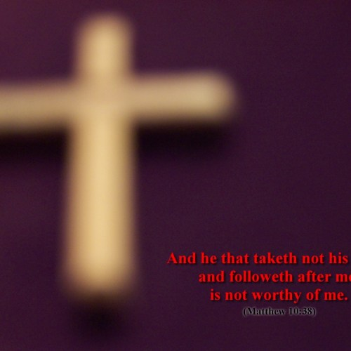 Matthew 10:38 christian wallpaper free download. Use on PC, Mac, Android, iPhone or any device you like.