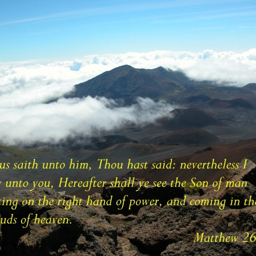 Matthew 26:64 christian wallpaper free download. Use on PC, Mac, Android, iPhone or any device you like.