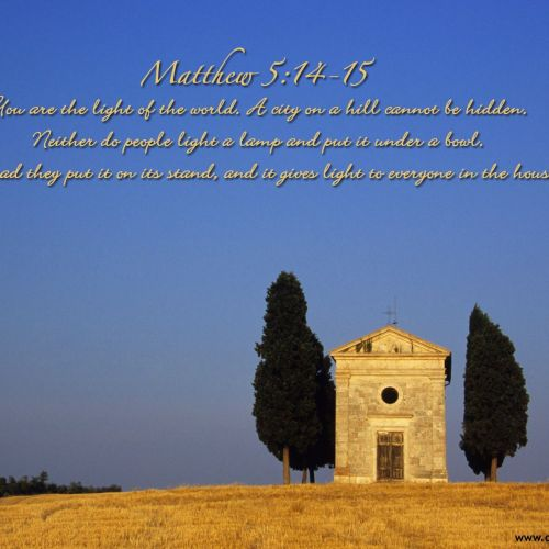 Matthew 5:14-15 christian wallpaper free download. Use on PC, Mac, Android, iPhone or any device you like.