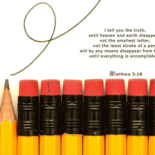 Matthew 5:18 christian wallpaper free download. Use on PC, Mac, Android, iPhone or any device you like.