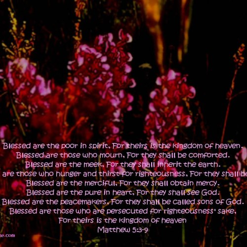 Matthew 5:3-9 christian wallpaper free download. Use on PC, Mac, Android, iPhone or any device you like.