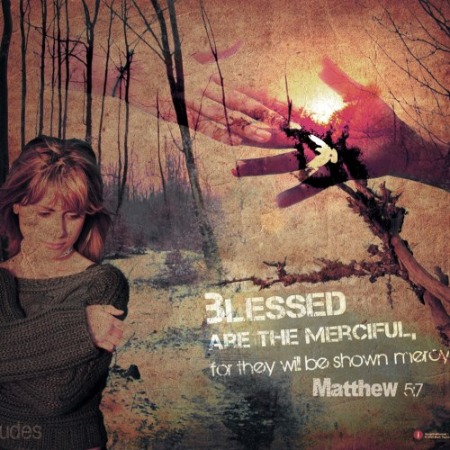 Matthew 5:7 christian wallpaper free download. Use on PC, Mac, Android, iPhone or any device you like.