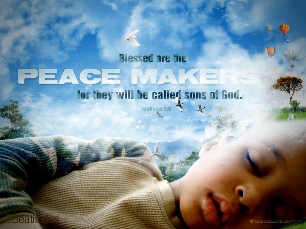 Christian wallpaper Matthew 5:9