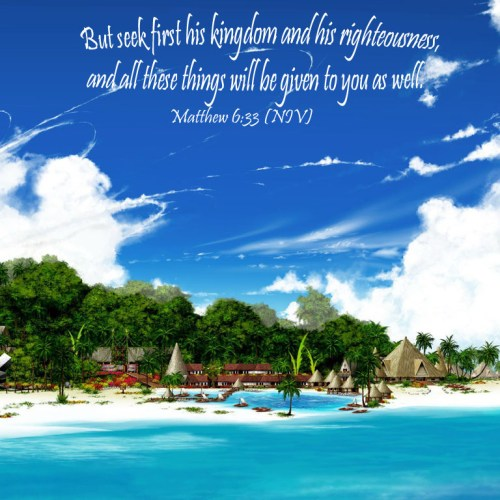 Matthew 6:33 christian wallpaper free download. Use on PC, Mac, Android, iPhone or any device you like.
