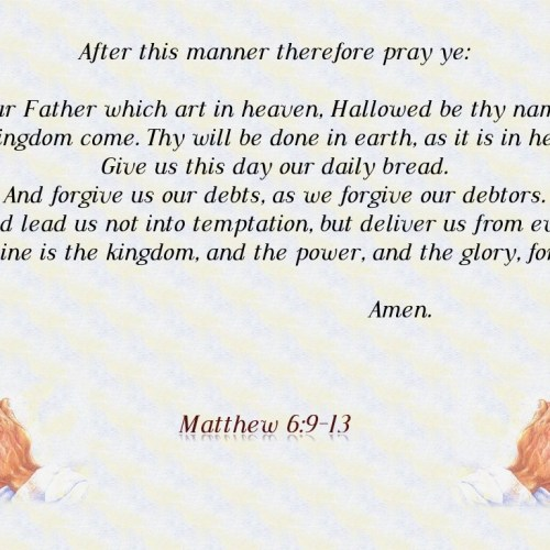 Matthew 6:9-13 christian wallpaper free download. Use on PC, Mac, Android, iPhone or any device you like.
