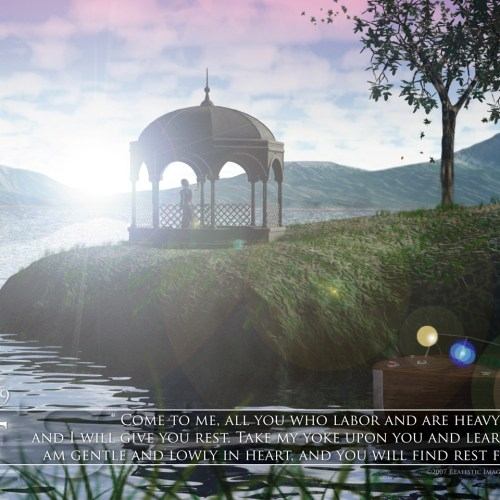 Matthews 11:28-29 christian wallpaper free download. Use on PC, Mac, Android, iPhone or any device you like.