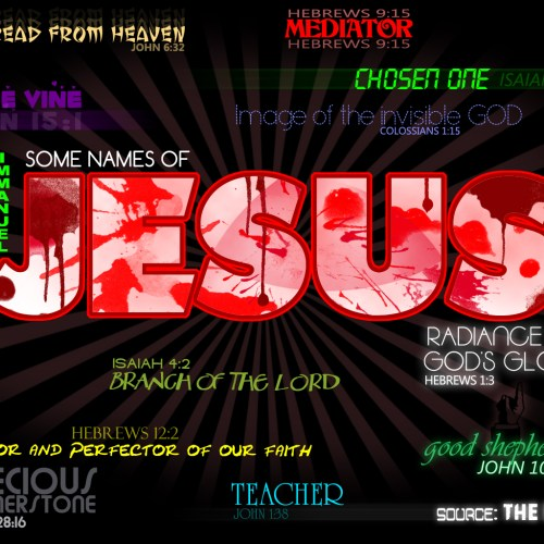 Names of Jesus christian wallpaper free download. Use on PC, Mac, Android, iPhone or any device you like.