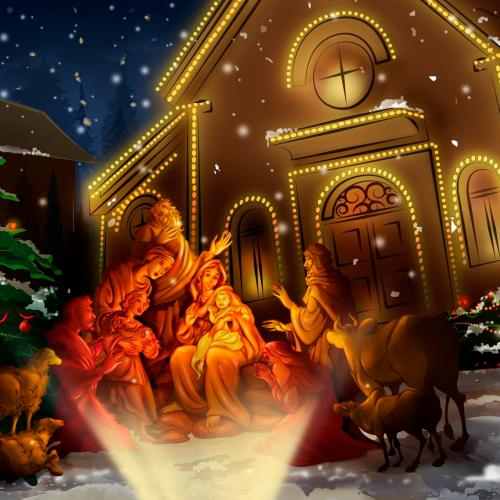 Nativity scene christian wallpaper free download. Use on PC, Mac, Android, iPhone or any device you like.
