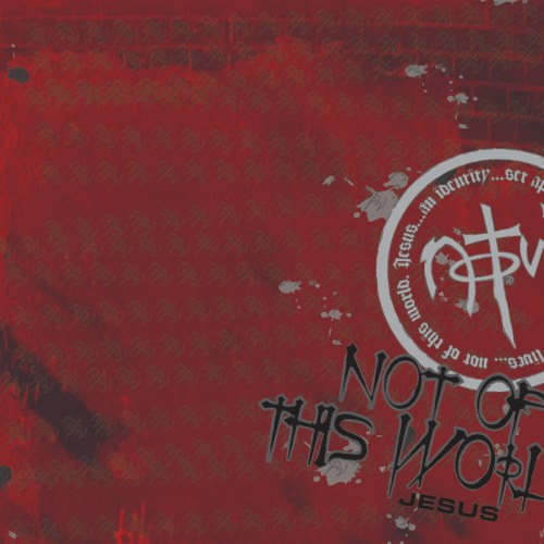 Not Of This World red christian wallpaper free download. Use on PC, Mac, Android, iPhone or any device you like.