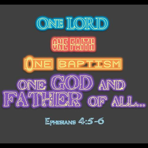 ONE Ephesians 4:5-6_neon christian wallpaper free download. Use on PC, Mac, Android, iPhone or any device you like.