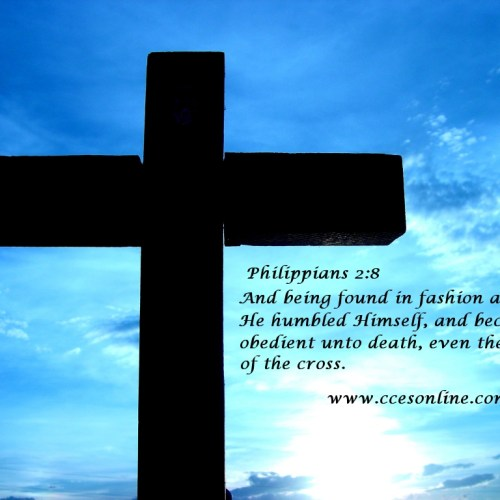 Philippians 2:8 christian wallpaper free download. Use on PC, Mac, Android, iPhone or any device you like.