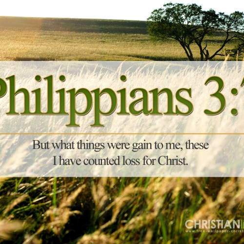 Philippians 3:7 christian wallpaper free download. Use on PC, Mac, Android, iPhone or any device you like.