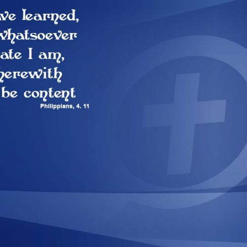 Philippians 4:11 christian wallpaper free download. Use on PC, Mac, Android, iPhone or any device you like.