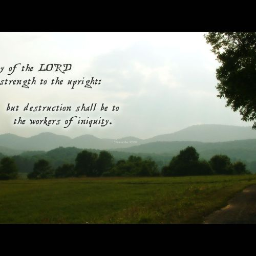 Proverbs 10:29 christian wallpaper free download. Use on PC, Mac, Android, iPhone or any device you like.