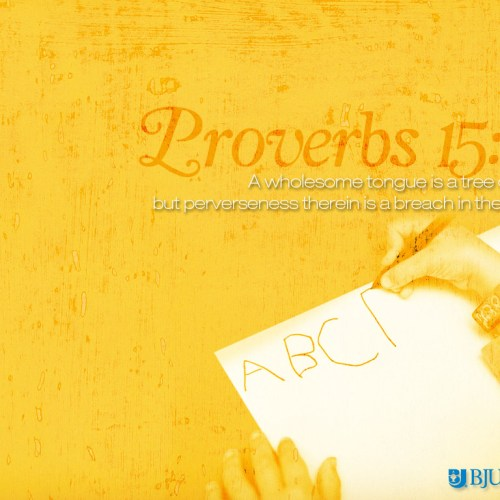 Proverbs 15:4 christian wallpaper free download. Use on PC, Mac, Android, iPhone or any device you like.