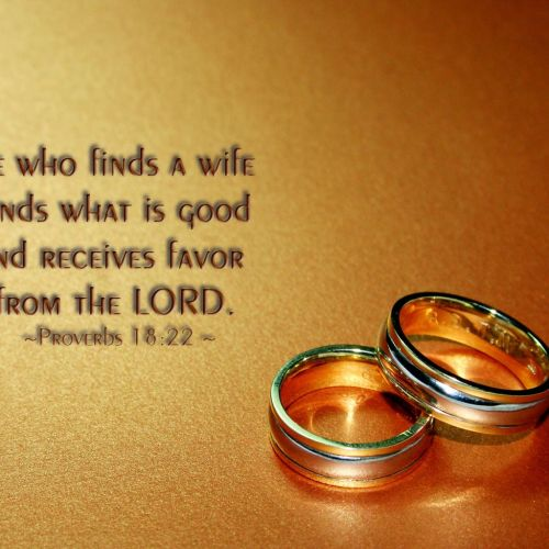 Proverbs 18:22 christian wallpaper free download. Use on PC, Mac, Android, iPhone or any device you like.
