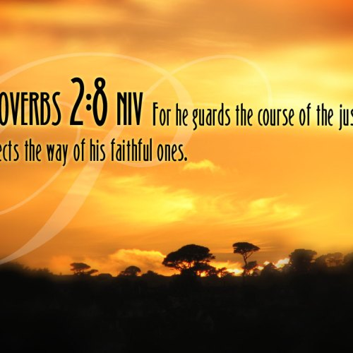Proverbs 2:8 christian wallpaper free download. Use on PC, Mac, Android, iPhone or any device you like.