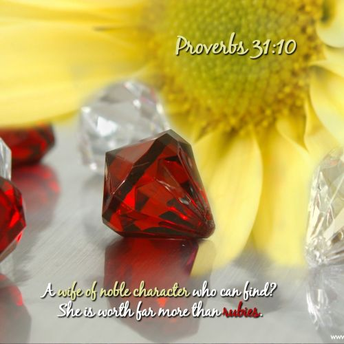 Proverbs 31:10 christian wallpaper free download. Use on PC, Mac, Android, iPhone or any device you like.