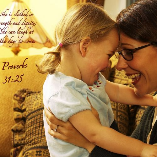 Proverbs 31:25 christian wallpaper free download. Use on PC, Mac, Android, iPhone or any device you like.