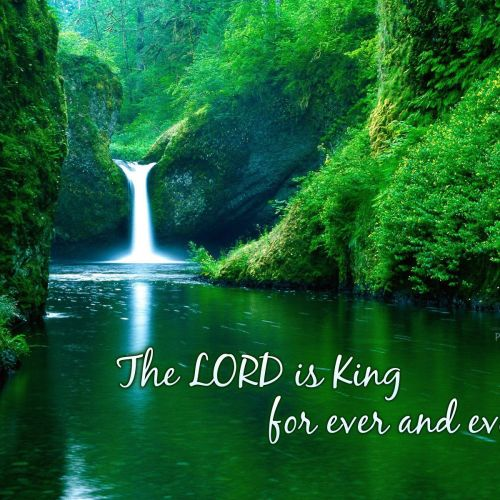 Psalm 10:16a christian wallpaper free download. Use on PC, Mac, Android, iPhone or any device you like.
