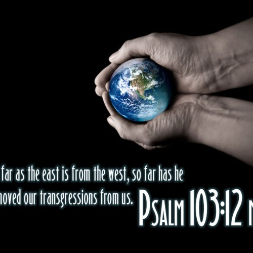 Psalm 103:12 christian wallpaper free download. Use on PC, Mac, Android, iPhone or any device you like.