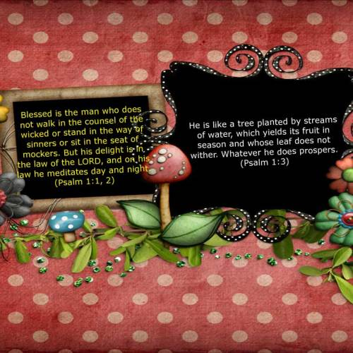Psalm 1:1, 2, 3 christian wallpaper free download. Use on PC, Mac, Android, iPhone or any device you like.