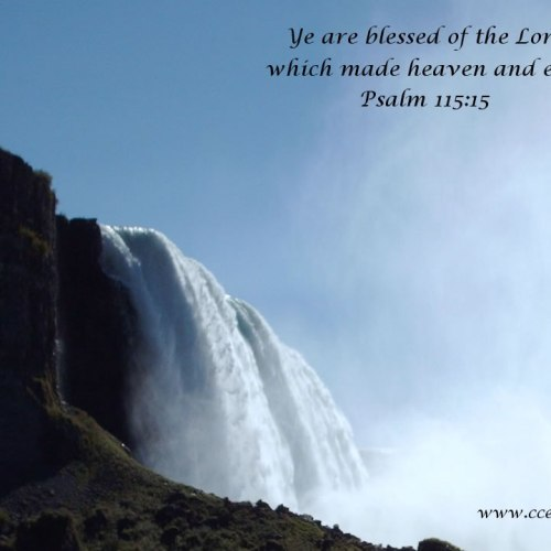 Psalm 115:15 christian wallpaper free download. Use on PC, Mac, Android, iPhone or any device you like.