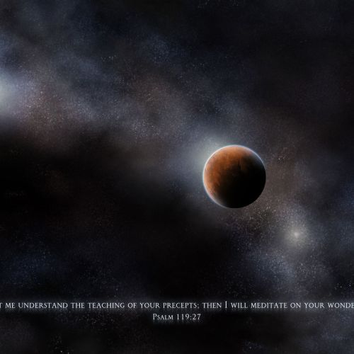 Psalm 119:27 christian wallpaper free download. Use on PC, Mac, Android, iPhone or any device you like.