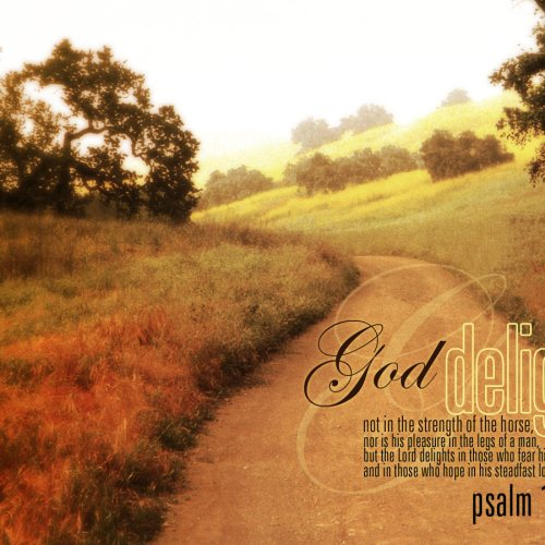 Psalm 147:10-11 christian wallpaper free download. Use on PC, Mac, Android, iPhone or any device you like.
