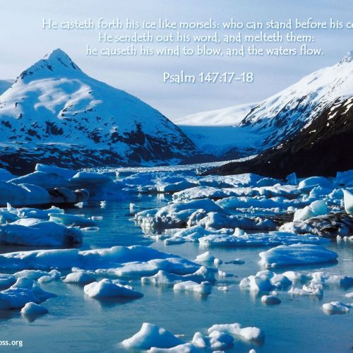 Psalm 147:17-18 christian wallpaper free download. Use on PC, Mac, Android, iPhone or any device you like.