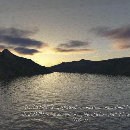 Psalm 27:1 Sea christian wallpaper free download. Use on PC, Mac, Android, iPhone or any device you like.