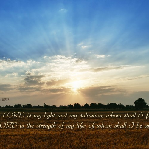 Psalm 27:1 christian wallpaper free download. Use on PC, Mac, Android, iPhone or any device you like.