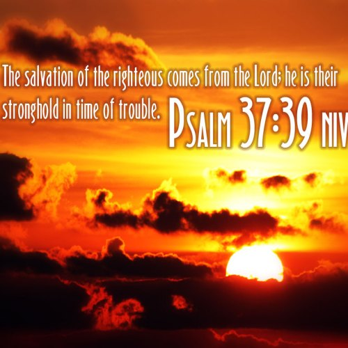 Psalm 37:39 christian wallpaper free download. Use on PC, Mac, Android, iPhone or any device you like.