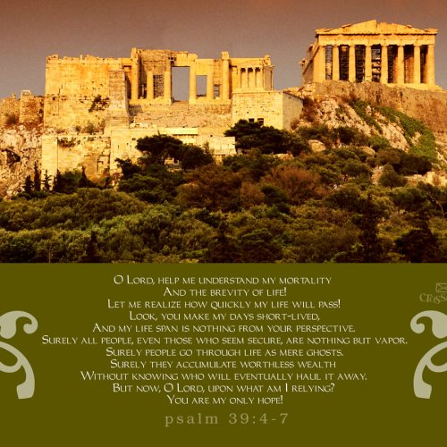 Psalm 39:4-7 christian wallpaper free download. Use on PC, Mac, Android, iPhone or any device you like.